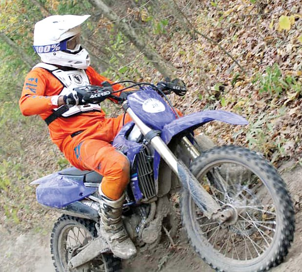 Litchfield's Chris Short took first in the Vet 30+ B class at the Big Red Enduro in White City on Sunday, Oct. 18, and was 36th overall in the race that drew over 100 riders to the Cahokia Creek Dirt Riders grounds.