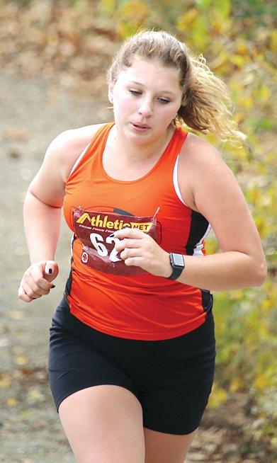 Hillsboro's Jade Christian ran a personal best at the regional on Saturday, Oct. 24, breaking 30 minutes for the first time this season.