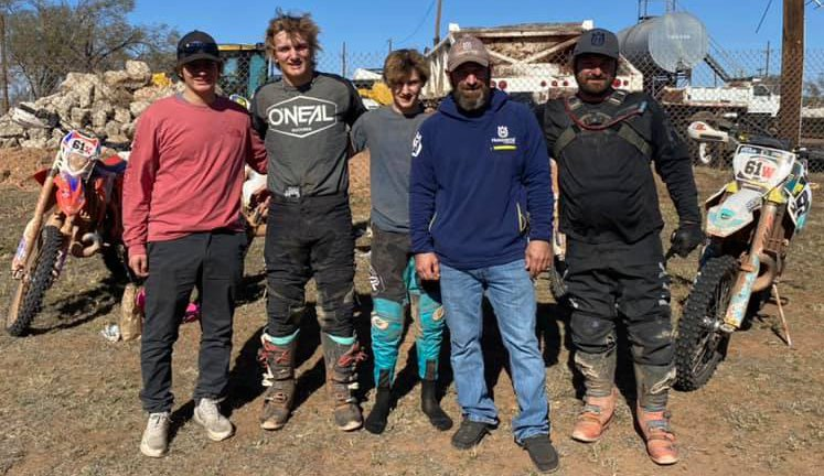 It was 1,600 miles worth of memories that will last forever for the Walker and Thomas race teams as they traveled to Turkey, TX for the NEPG Championship Series Caprock Canyon Nationals. From the left are Camden Thomas, Jhadyn Walker, Jhak Walker, Derek Thomas and Jeremy Walker.