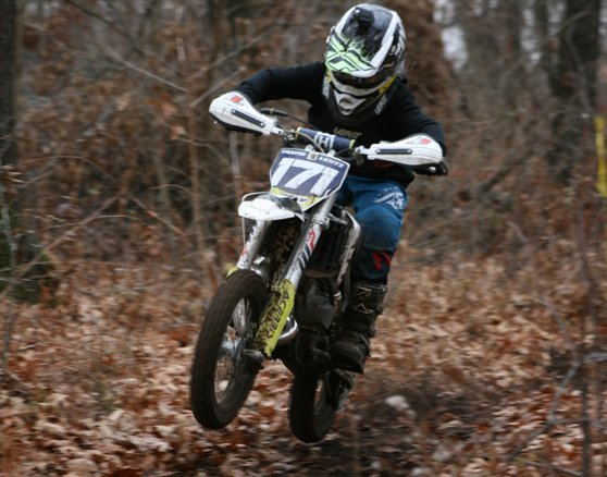 Travis Lentz of Walshville picked up another win on Sunday, Nov. 15, as he earned first in the 65cc class at the WFO Productions hare scramble in Keithsburg.