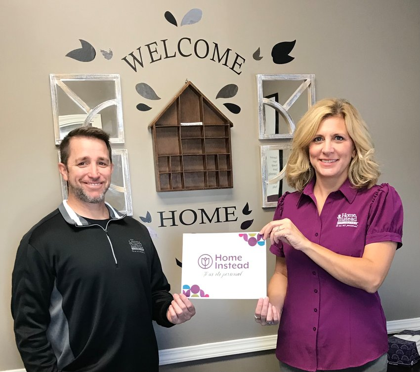 Kyle and Nikki Bishop of Litchfield officially opened their own Home Instead franchise in Edwardsville in September.