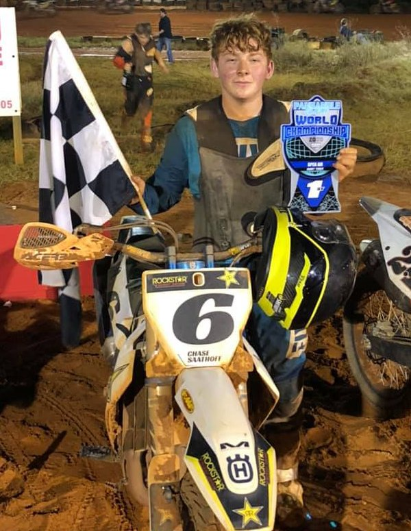 It's been a banner year for Chase Saathoff, with two national championships and two AMA District 17 titles to his credit. Saathoff added on to his trophy haul this past weekend, scoring eight wins and two championships at the Panhandle Clash World Championships in Pensacola, FL on Dec. 10-12.