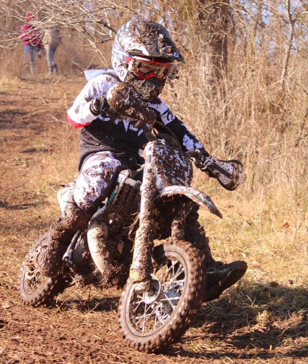 Jhenner Walker put together a solid second place finish at the Hillbilly Gran Prix event on Sunday, Jan. 10, in Bolivar, MO, even if his bike wasn't as spotless as his run.