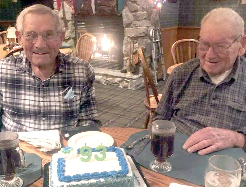Shirlen Rosenthal (left) celebrates his 93rd birthday on Jan. 6 with brother Kenny Rosenthal who is 94.