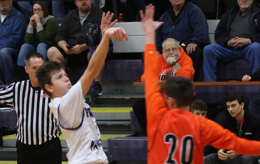 For decades Ron Deabenderfer, affectionately known as Mr. D to those who know him or had him at Hillsboro High School, has been a fixture of Hiltopper athletics, whether it be as a coach or at the scorer's table keeping stats, like at this game in 2019.