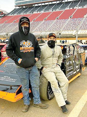 It was the opportunity of a lifetime for Hillsboro's Nathan Lynch, right, pictured with his brother, Evan. Lynch got the opportunity to compete in the Bristol Dirt Nationals, which drew 900 entries to the iconic concrete speedway that was covered in dirt for the March NASCAR race.