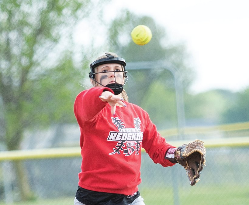 Nokomis senior shortstop Mia Fesser did it with the glove and the bat on May 6, against Morrisonville as her bases loaded double gave the Lady Redskins a 9-7 win, the first of two against the Mohawks to end the week.