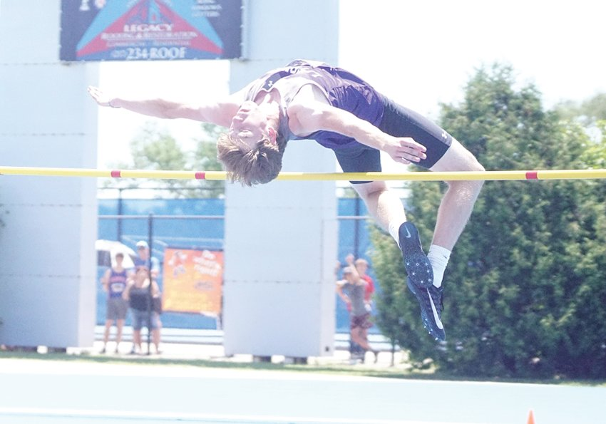 Litchfield's Cameron Crow cleared 1.93 meters in the high jump at the IHSA Class 1A State Track Meet on Thursday, June 17, good enough to sew up fifth place overall in the event. Crow also ran a personal best 50.33 in the 400 meters to place third, marking the first time a Litchfield athlete had medalled individually twice at the boys state track meet in the same year.