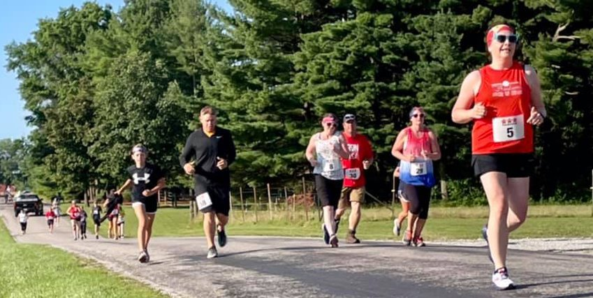 The 19th annual Freedom 5K Fun Run at Lake Lou Yaeger drew nearly 100 runners to Litchfield on Saturday, July 3. The event is a family favorite for many, including the Younkers of Litchfield,pictured above in black. Cody Younker and daughter Rilynn were both second in their age groups, while Parish Younker, not pictured, finished first in his group.