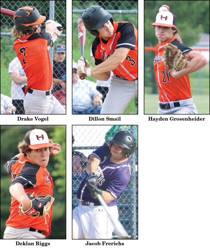 Five Montgomery County players were among the 37 South Central Conference baseball players who earned all-conference recognition for the 2020-21 season.