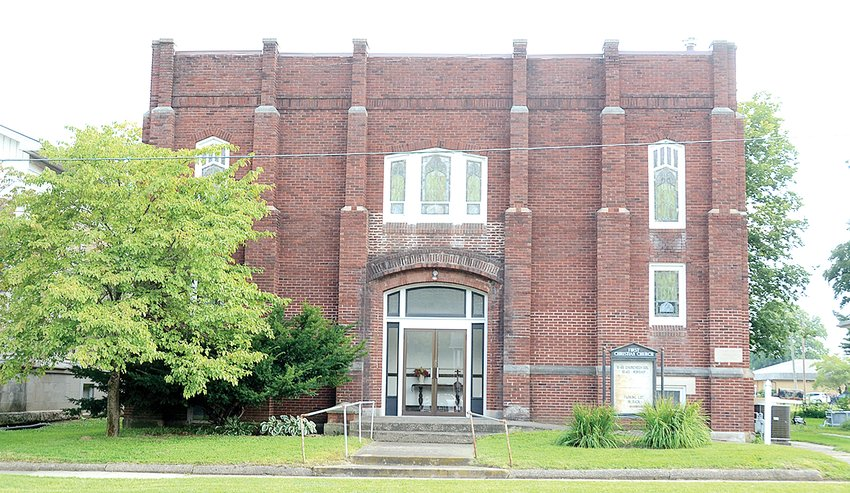 The photo above shows the building housing the First Christian Church of HIllsboro. The church will celebrate 100 years of services in the brick building this Sunday, Aug. 22 immediately following services which begin at 10:45 a.m.