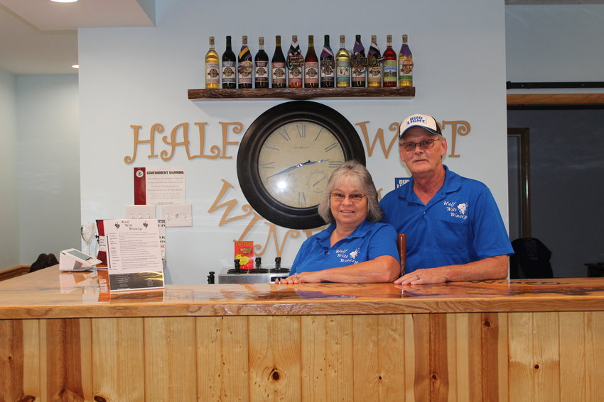 Gail and David Bradshaw (above) will celebrate the Half Witt Winery's second year anniversary this weekend, Saturday, Sept. 4, and Sunday, Sept. 5.