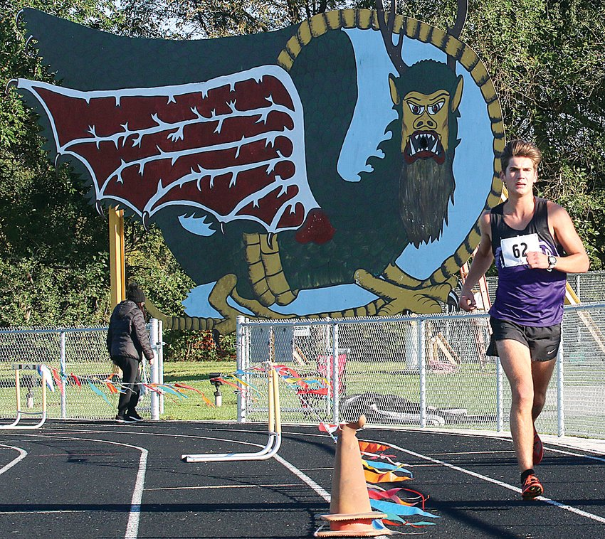 Litchfield's Camden Quarton earned the Panthers' first boys conference cross country title in well over a decade on Saturday, Oct. 16, running a 17:05 to claim the top spot.