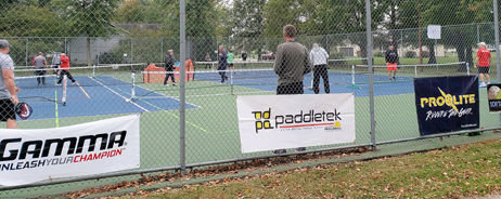 Fifty-five pickleball players from all over Illinois, and from as far as Evansville, IN, converged on Montgomery County on Oct. 13-14 for the MoCo Fall Tournament. Day two of the tournament was held on the tennis courts at Davis Park in Litchfield as the men and women squared off for doubles play.