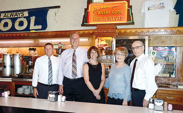 It was the changing of the guard at the Ariston Cafe in Litchfield, as Saturday, June 30, marked the final day for owners Nick and Demi Adam, who have been the face of the Ariston since 1966. They are pictured above with new owners, Marty and Kara Steffens and Will Law. From the left are Will Law, Marty and Kara Steffens and Demi and Nick Adam.