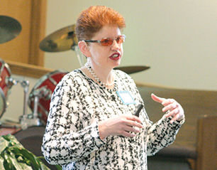 Nanette Larson, deputy director/ambassador for wellness and recovery for the Illinois Department of Human Services Division of Mental Health, spoke on spirituality and mental health recovery.