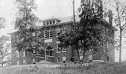"The original Hillsboro Hospital as it stood after 11 years of fundraising before it opened on Feb. 22, 1916. Jeff Dunn of the Historical Society of Montgomery County has built an interactive timeline on the histocial society's website: <a href=""http://history.montgomeryco.com/Archives/Timelines/Hospital"" target=""_blank"">http://history.montgomeryco.com/Archives/Timelines/Hospital</a>."