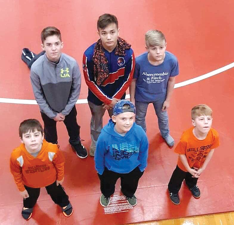 Junior Topper Wrestlers Griffen Hughes, Tanner Clayton, Gunner Hefley, Kohl Fuller, Landon Zbinden and Tucker Wilson competed in the IKWF sectional in Highland on Saturday, March 2.