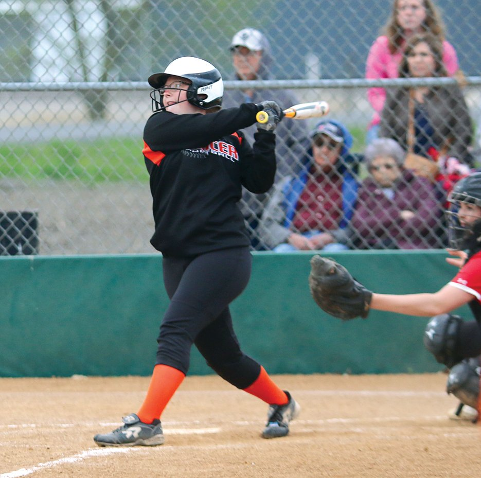 Lincolnwood's Sadie Slightom had two hits in the Lancers' 8-4 loss to Morrisonville on Tuesday, April 23, and was the hero of Monday's 9-8 extra-inning win over Lanphier, as she struck out seven on the mound and drove in the game-winning run in the bottom of the eighth inning.