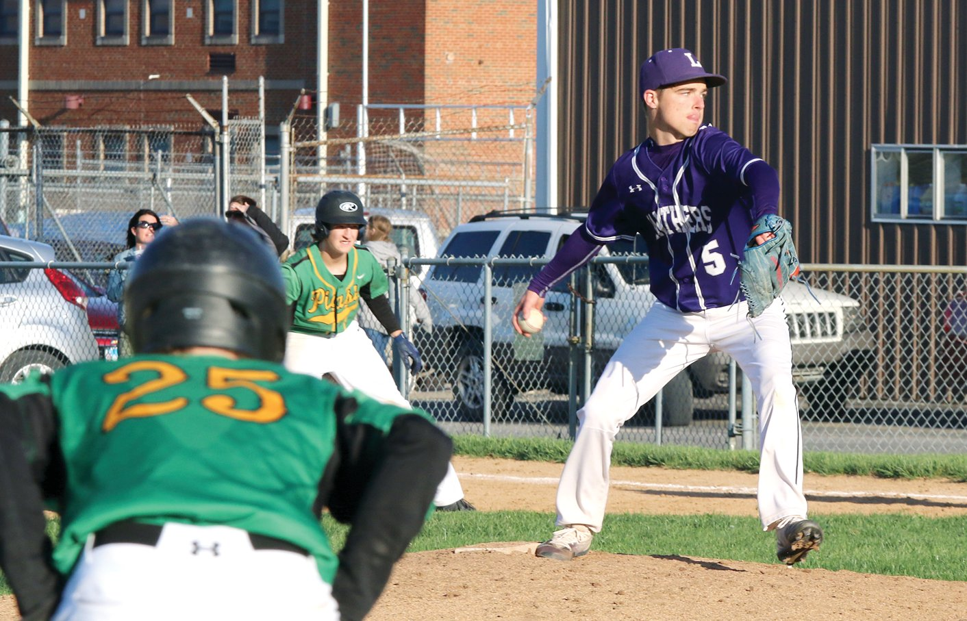 With the bases full of Piasa Birds, Litchfield senior Jeremy Frazier pitched his way out of trouble in the top of the seventh inning, allowing just one run to keep the score at a manageable 7-4 margin in Southwestern's favor. Frazier would also play a part in Litchfield's come-from-behind rally in the bottom of the seventh, drawing a walk and scoring the go-ahead run off a Chase Hires single that gave the Purple Panthers a 8-7 victory.