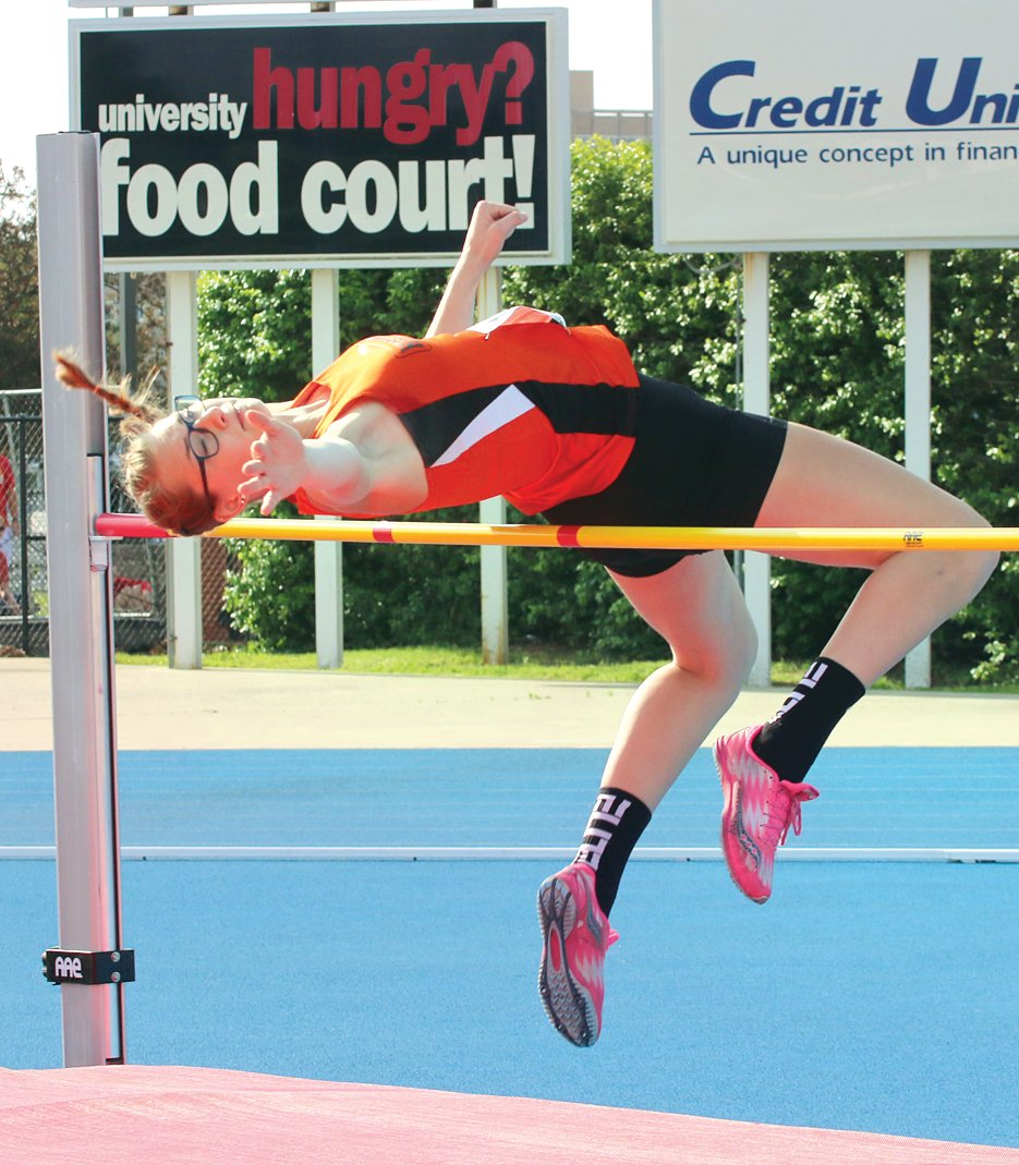 After finishing in the runner-up spot at last year's IESA State Finals, Hillsboro freshman Kaci Papin finished 12th overall in the high jump at this year's IHSA Class 2A State Finals on Saturday, May 18.