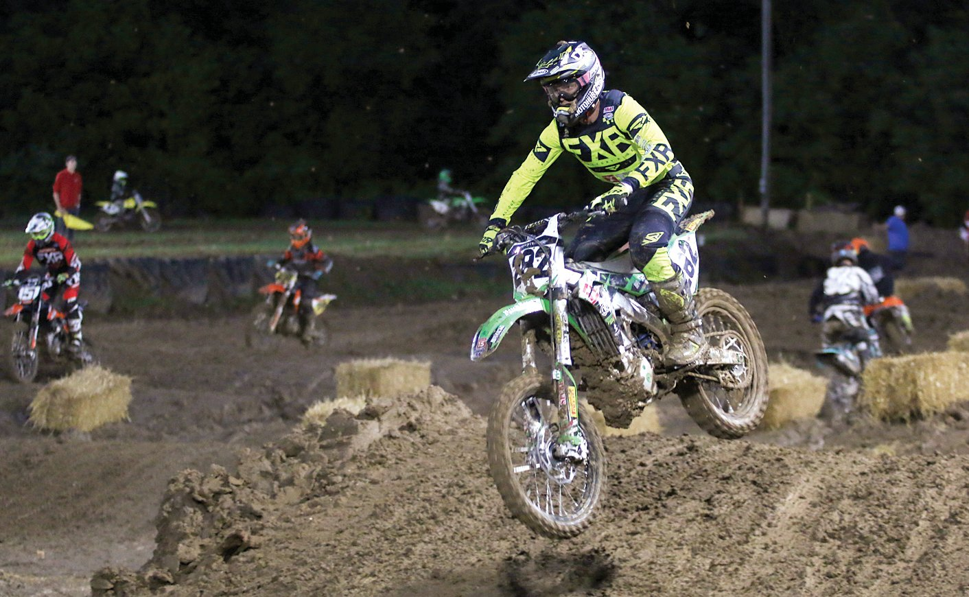 "Edwardsville pro Theodore ""Bubba"" Pauli was dominant in the 250 and 450 pro classes at the Montgomery County Fair motocross event on Friday, June 21. Pauli, who has helped train several local riders, won all four races in which he participated."