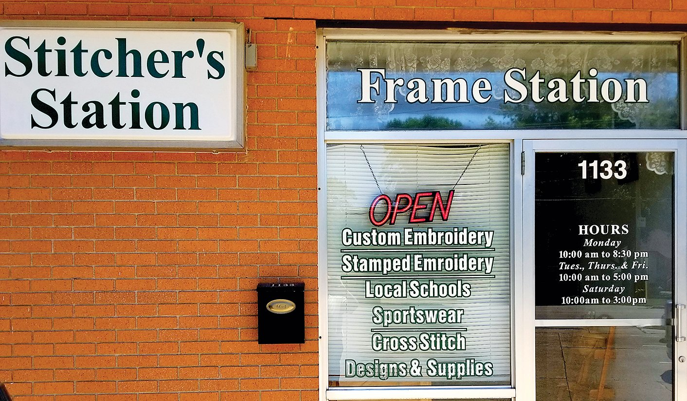 Stitcher's Station Frame Station Owner Pat Siltman announces inventory sale and upcoming plans to close the store.