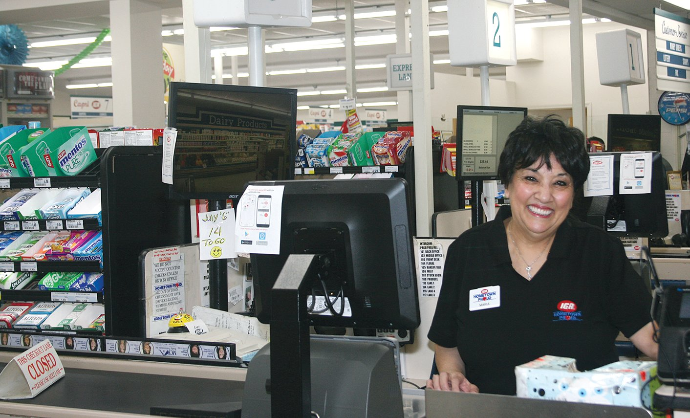 Longtime Capri IGA employee Maria Grammer retired from the store in July. Her last official day was Saturday, July 6.