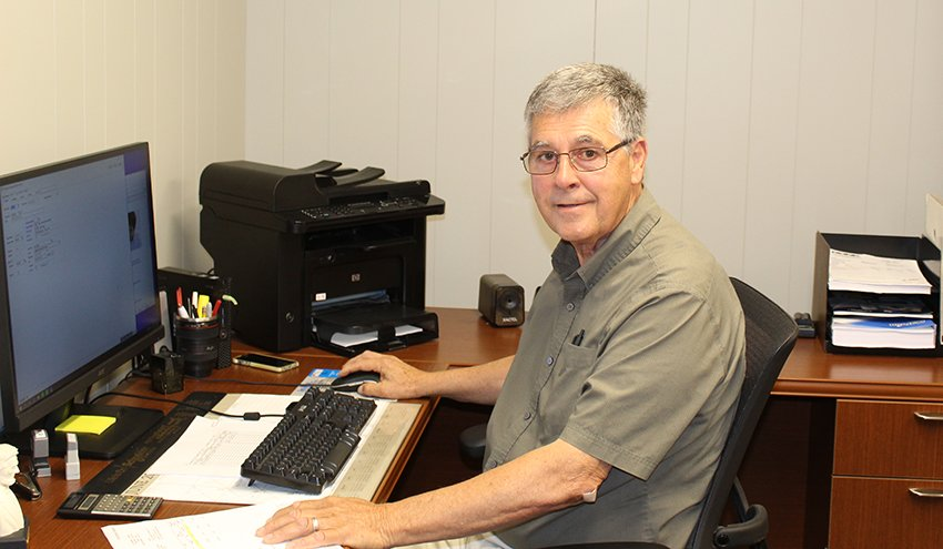 Pictured above is Ronk Electrical Industries, Inc. employee Johnie West, who has been with the company since 1969.
