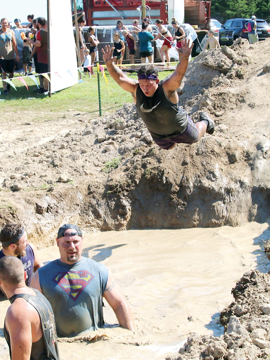 He wasn't Superman, but Drew Hartzell made a super splash when he hit the water near the end of the Big Dawg Dare course on Saturday, July 20.