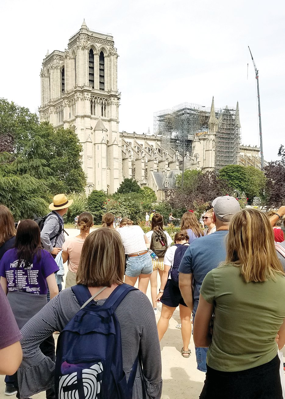 While they weren't able to go inside due to the fire at Notre Dame in April, the Litchfield travelers were able to catch a glimpse of the majestic cathedral during their time in Paris.
