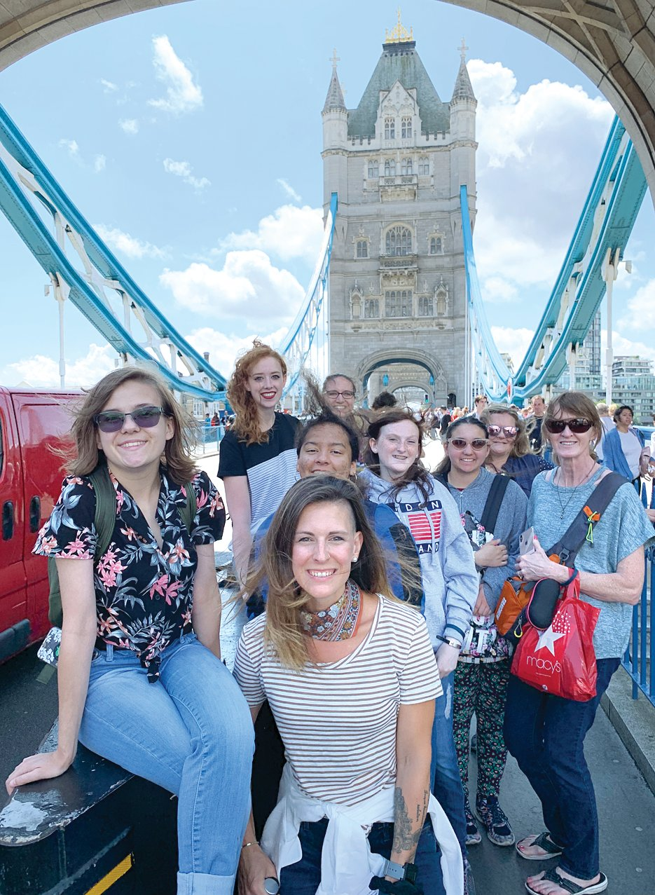 """London Bridge"" may be falling down according to the song, but Tower Bridge in London was as majestic as ever during the Litchfield travelers' visit."