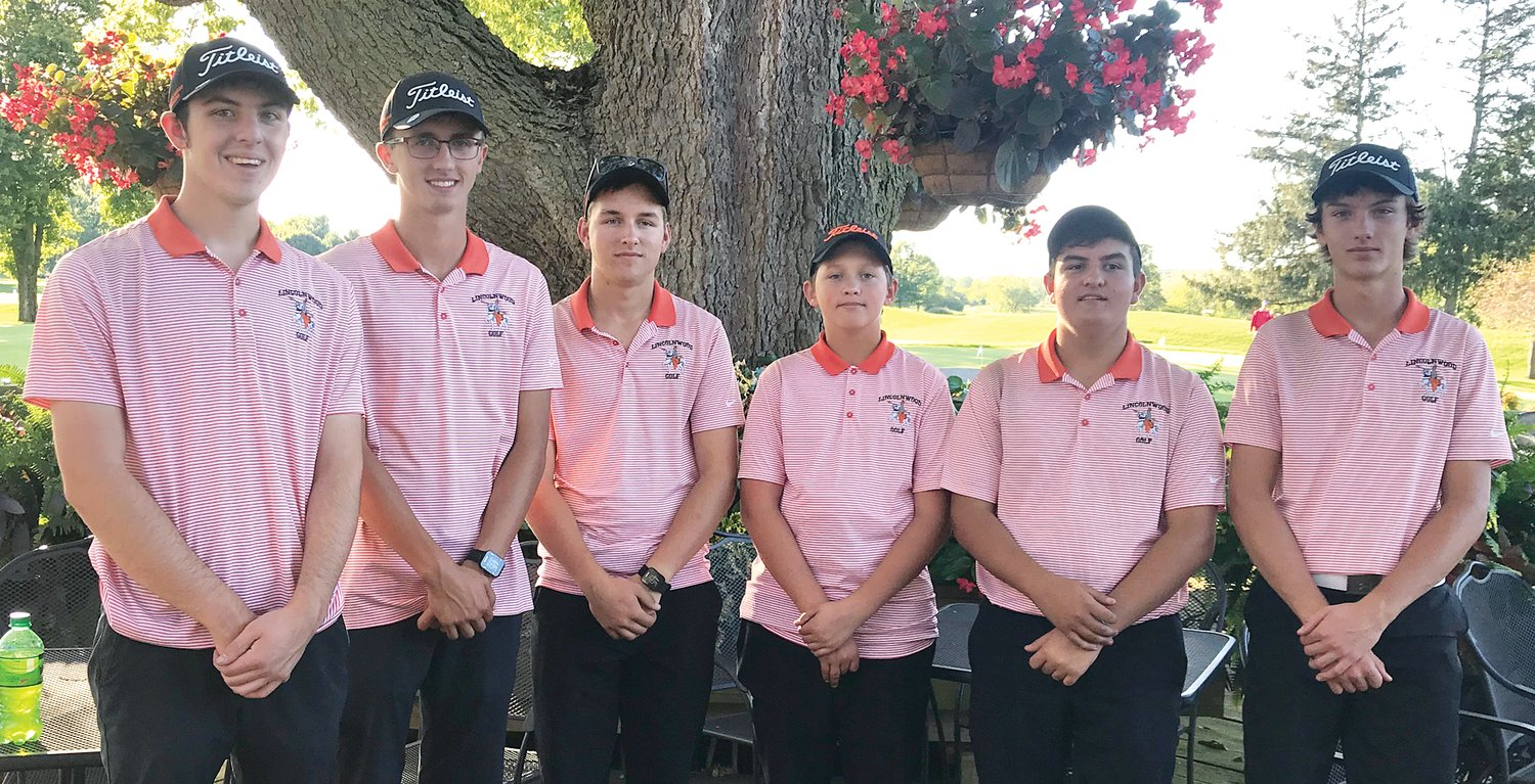 The Lincolnwood boys golf team earned their spot at sectionals by the slimmest of margins on Monday, Oct. 7, at The Rail, shooting a 368 to beat out South County by one stroke for the third and final qualifying spot out of the Williamsville Regional. Team members, from the left, are Devin Brown, Sam Herman, Will Jenkins, Nate Brockmeyer, Michael Graham and Braxton Schmedeke.