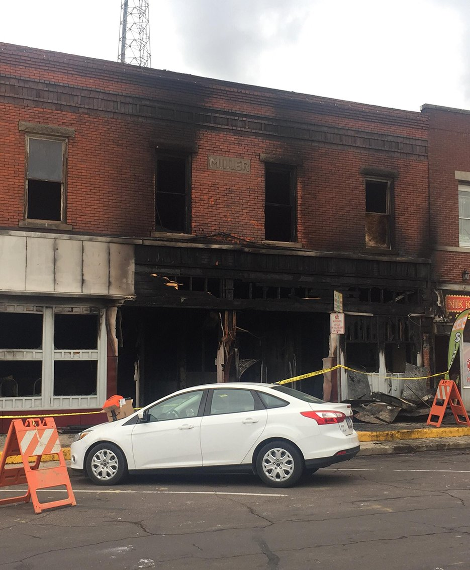 Fire destroyed the downtown Hillsboro home of Rising Sun Martial Arts early Thursday morning, Oct. 10.