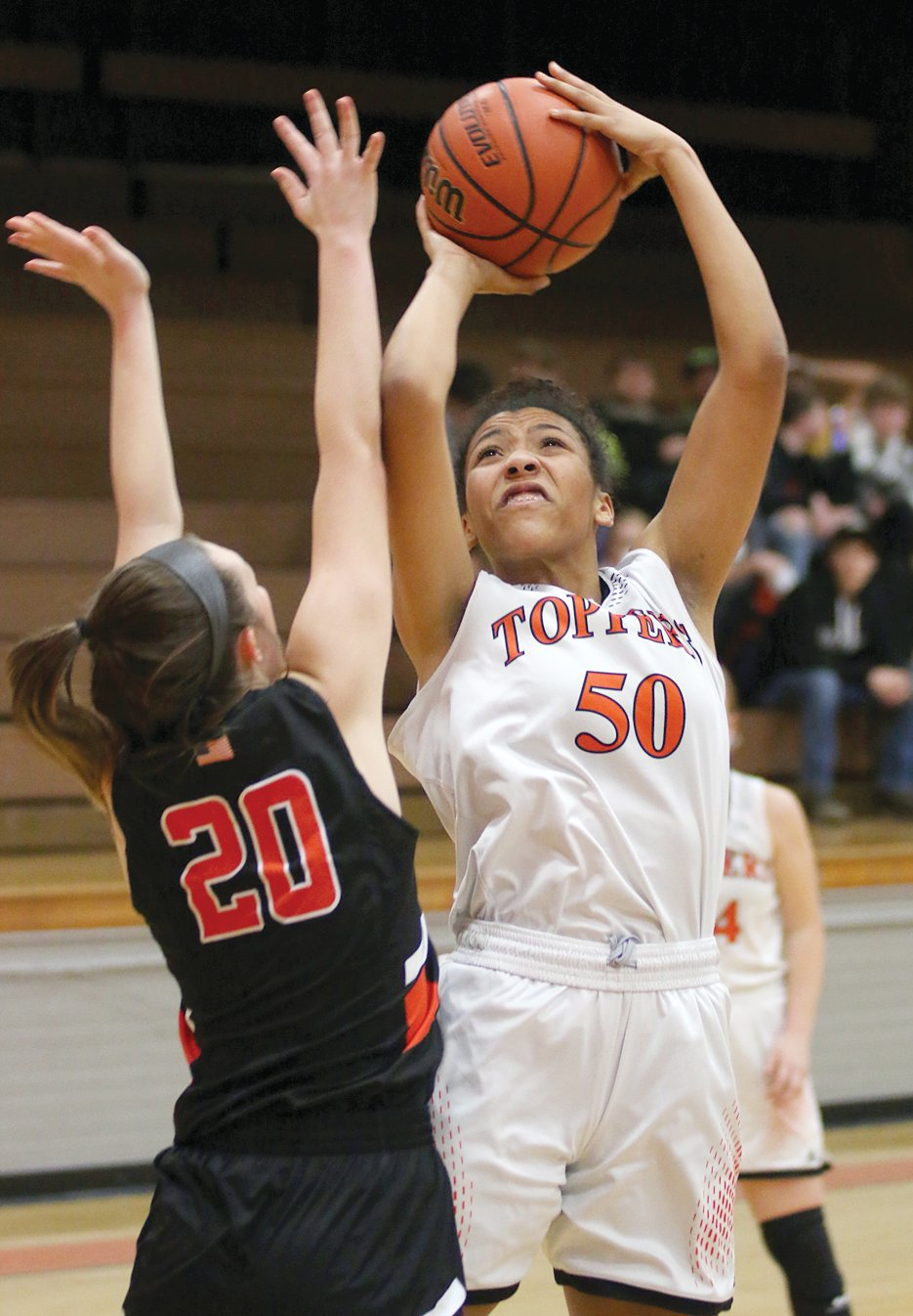 The Wesclin Warriors had little answer for Nikya Harston in the post as the Hillsboro junior scored 19 points in the Lady Hiltoppers' 61-46 win on Monday, Jan. 13.