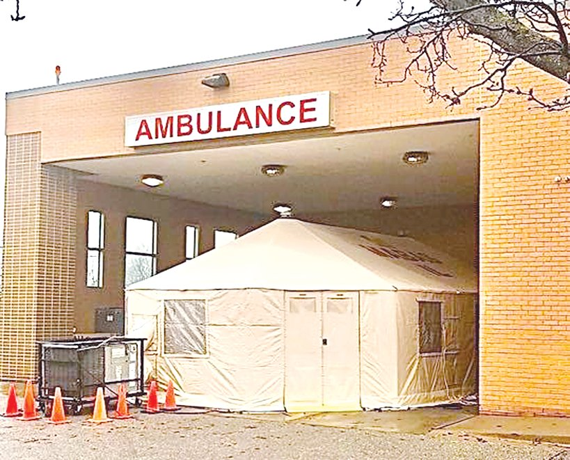 Entry to St. Francis Hospital in Litchfield is through the emergency department ambulance bay.