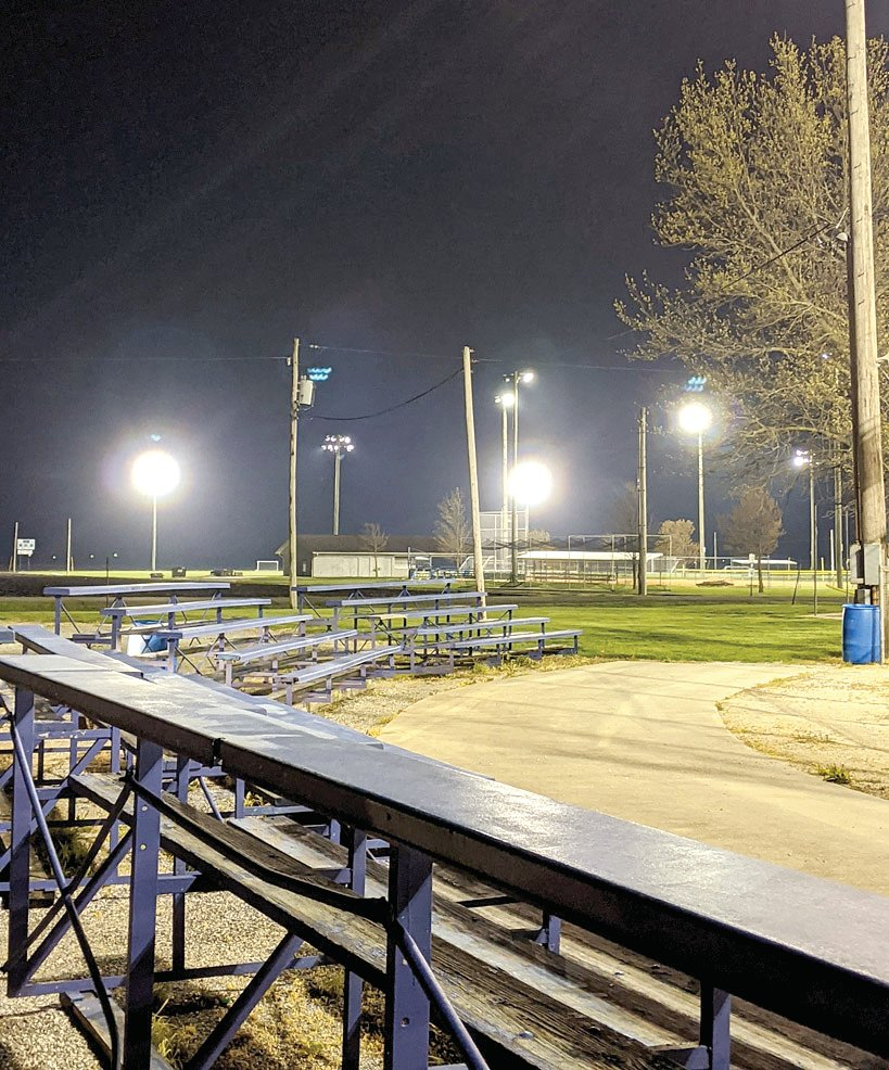 The lights at Stieren Field, Kiwanis Field and Terry Todt Field in Raymond were lit up for the Lights For The Fight show of support for the class of 2020 on Friday, April 17.