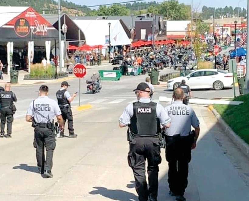 Hillsboro Police Officer Tim Sheldon joined fellow law enforcement officers from throughout the country to work the ten-day Sturgis Motorcycle Rally in South Dakota.