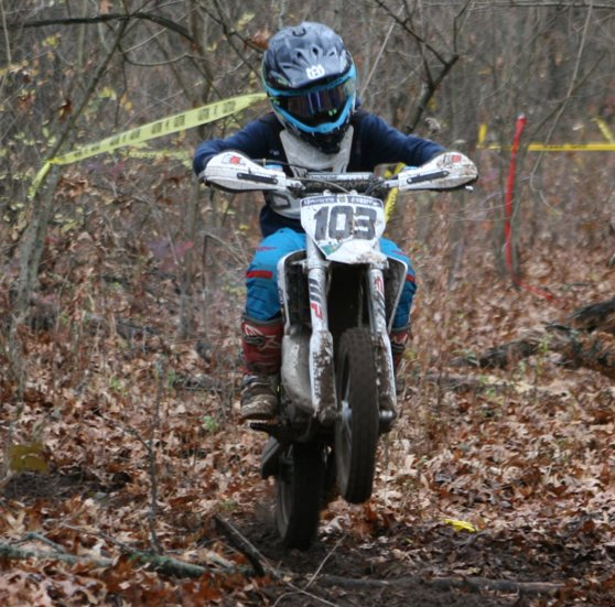 Cooper Duff of Donnellson was second overall in the 65cc class at the Keithsburg hare scramble on Sunday, Nov. 15.