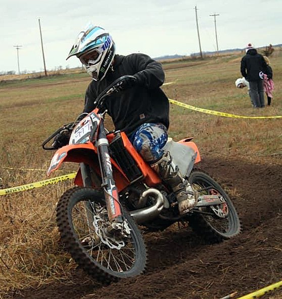 Going up against 21 other riders, Alex Komor took 11th in the 98-200 B class at the Keithsburg hare scrambles on Nov. 15.