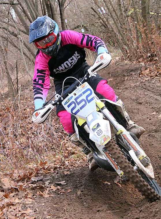 Collin Johnson of Gillespie took third in the tough Open B division at the Keithsburg hare scramble on Sunday, Nov. 15.