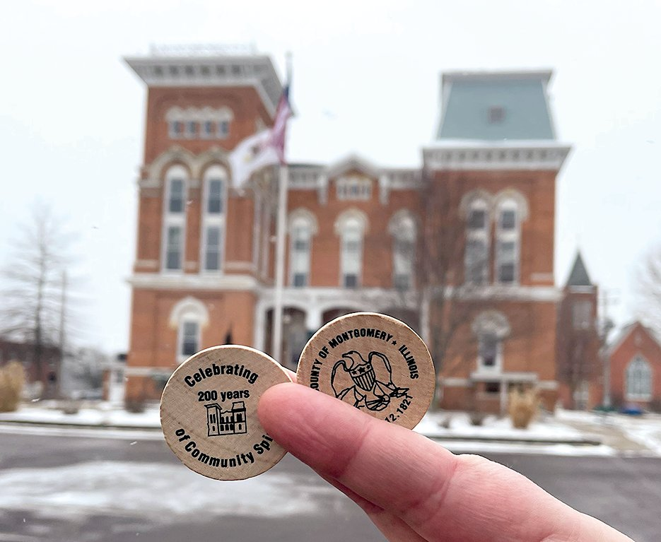 In celebration of the 200th birthday of Montgomery County on Feb. 12, the County Board has released wooden nickels to commemorate the special milestone.