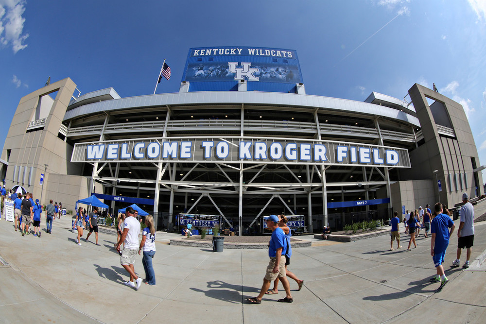 The University of Kentucky won't be offering the sale of alcohol at its sporting venues, including Kroger Field. (UK Athletics Photo).