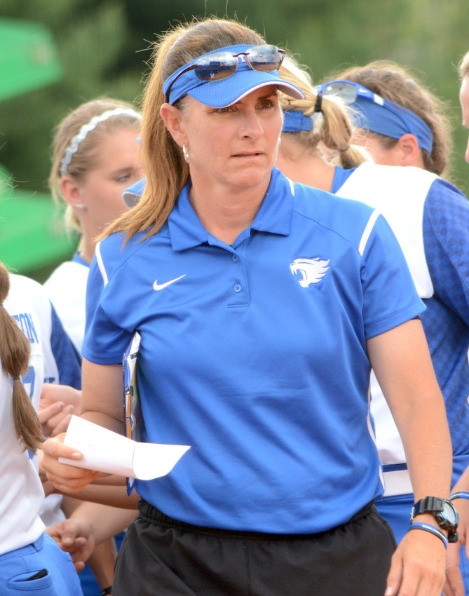 Kentucky coach Rachel Lawson and the Wildcats fell to Alabama 4-3 on Friday in the first game of a three-game series in Tuscaloosa.  (Keith Taylor/Kentucky Today)