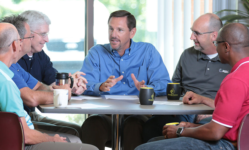 Dr. Paul Chitwood, center, received strong endorsements to become the next president of the International Mission Board. (Kentucky Today file photo)