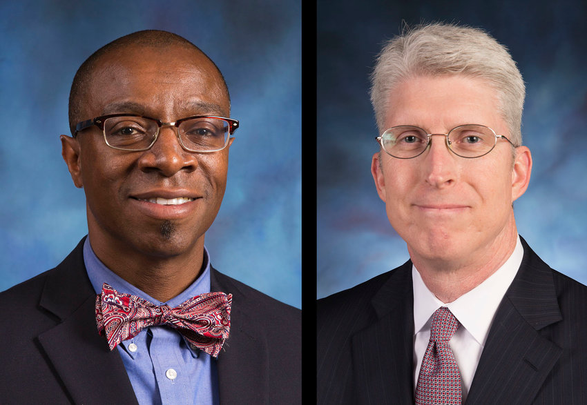 The KBC Administrative Committee appointed Curtis Woods, left, associate executive director for convention relations, and Jim Donnell, right, associate executive director for convention operations, to serve as co-interim executive directors. (Kentucky Today photo)