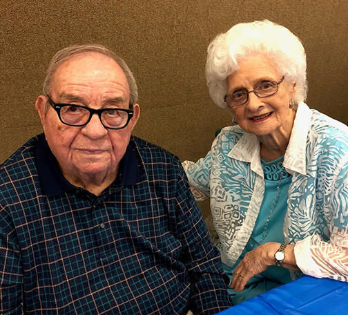 Bro. Charles Stewart died Monday morning at 90. He is shown here with wife Clara this summer.