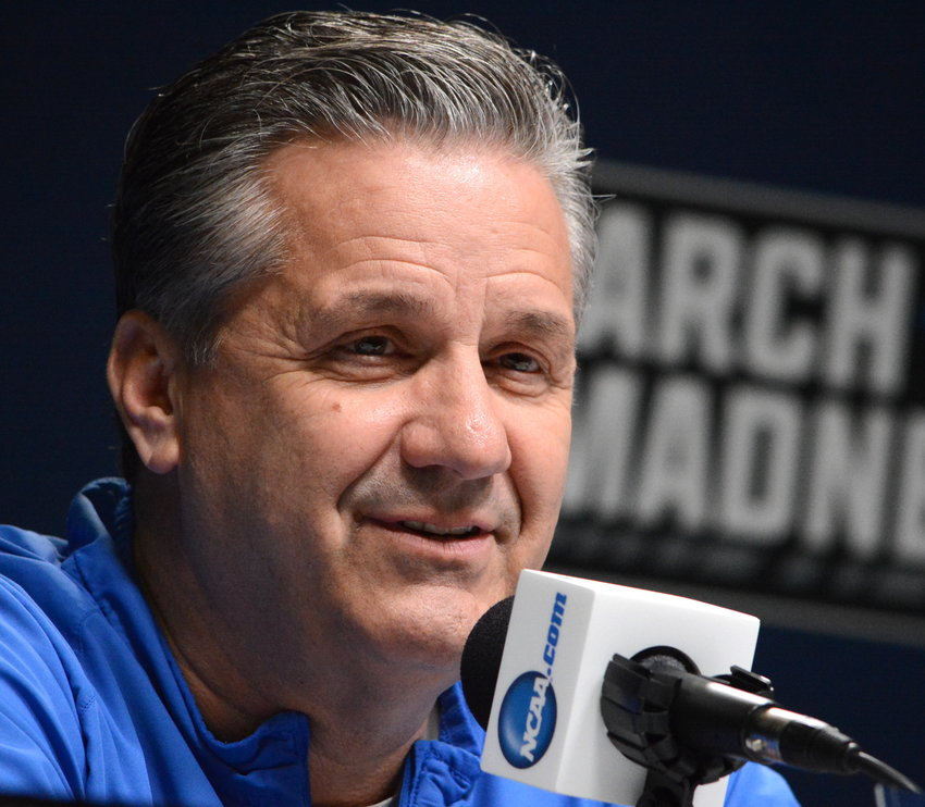 Kentucky coach John Calipari is looking forward to a three-game series against Notre Dame that begins Dec. 12 at Rupp Arena. (Kentucky Today/Keith Taylor)