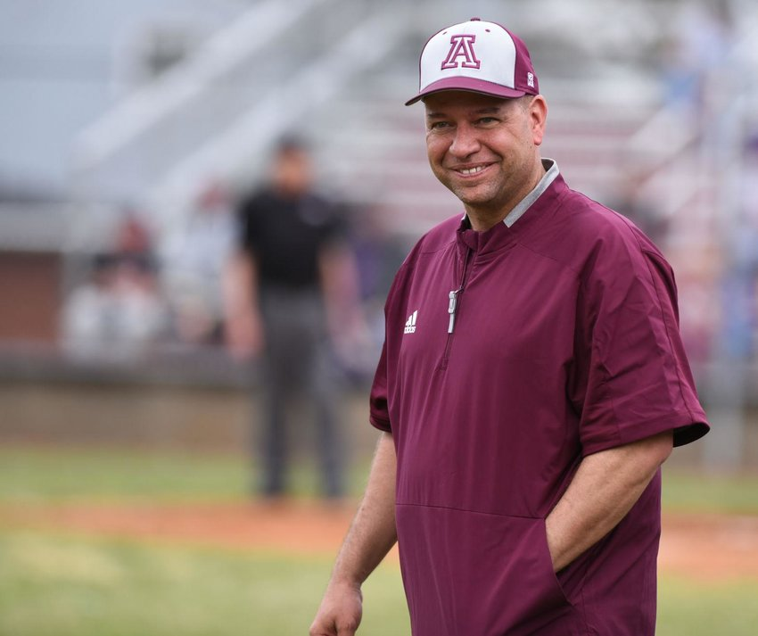 Kentucky Baptist David Greene has added high school head baseball coach to his list of jobs. He is the youth pastor at Rose Hill Baptist Church and a ninth-year principal at Ashland Middle School. (Photo by Kevin Goldy of The Daily Independent)
