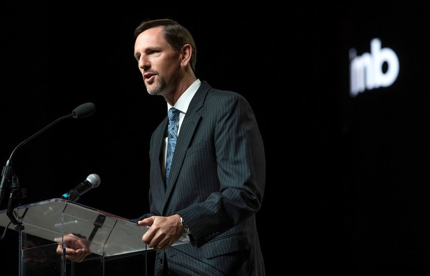 International Mission Board President Paul Chitwood reports on the work of Southern Baptist international missions personnel during the June 11 afternoon session of the 2019 SBC annual meeting in Birmingham, Ala. (Photo by Chris Carter/IMB)